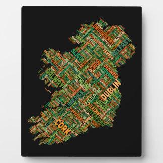 Ireland Eire City Text map Plaque