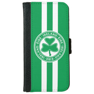 Ireland Éire Shamrock Green and White iPhone 6 Wallet Case