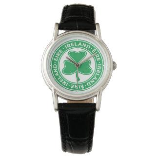 Ireland Éire Shamrock Watch