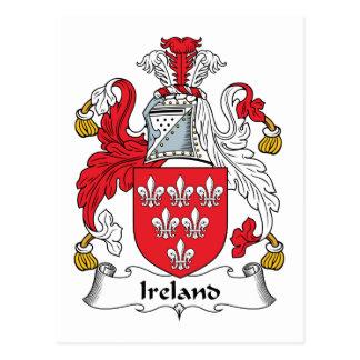 Ireland Family Crest Postcard