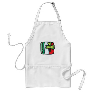 Ireland Flag and Clover St Patrick s Day design Apron