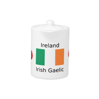 Ireland Flag And Irish Gaelic Language Design