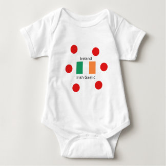 Ireland Flag And Irish Gaelic Language Design Baby Bodysuit