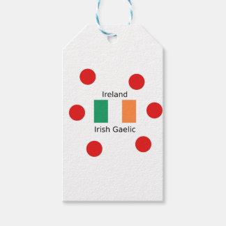 Ireland Flag And Irish Gaelic Language Design Gift Tags