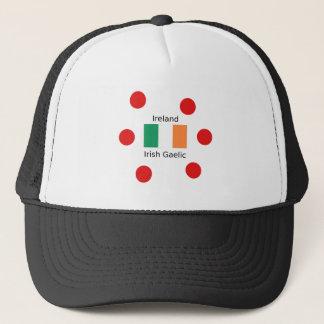 Ireland Flag And Irish Gaelic Language Design Trucker Hat