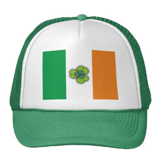 Ireland Flag and Small Clover Green Hats