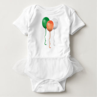Ireland Flag Balloons Baby Bodysuit