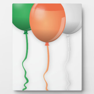Ireland Flag Balloons Display Plaque