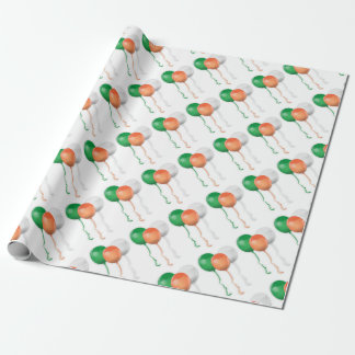 Ireland Flag Balloons Wrapping Paper