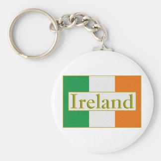 Ireland Flag Basic Round Button Key Ring