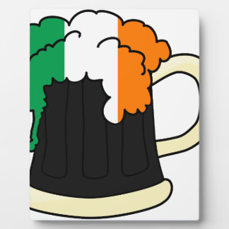 Ireland Flag Beer Mug Photo Plaques