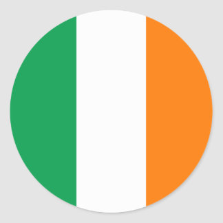 Ireland Flag Classic Round Sticker