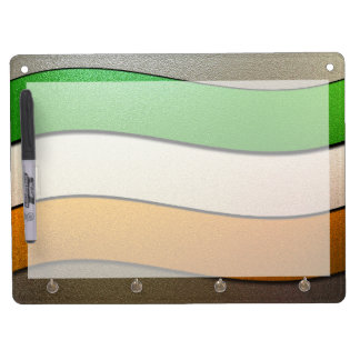 Ireland Flag Colors-Chrome by Shirley Taylor Dry Erase Board With Key Ring Holder