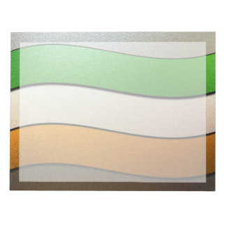 Ireland Flag Colors-Chrome by Shirley Taylor Notepad