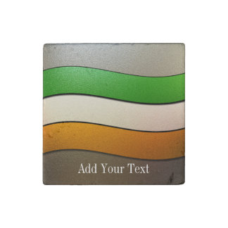 Ireland Flag Colors-Chrome by Shirley Taylor Stone Magnet
