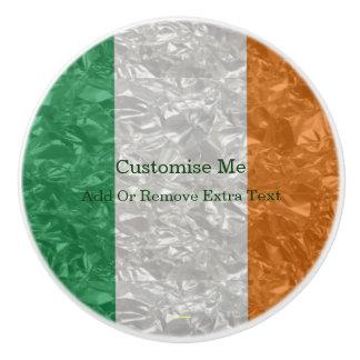 Ireland Flag - Crinkled Ceramic Knob