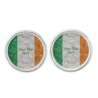Ireland Flag - Crinkled Cufflinks