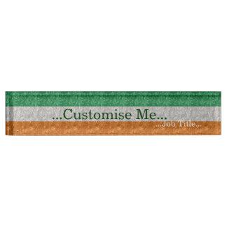 Ireland Flag - Crinkled Nameplate