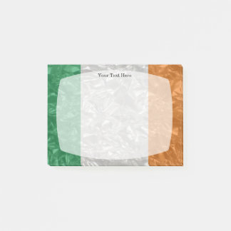 Ireland Flag - Crinkled Post-it Notes