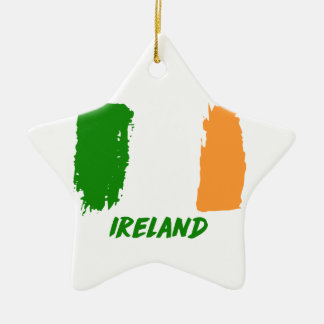 Ireland flag design ceramic ornament