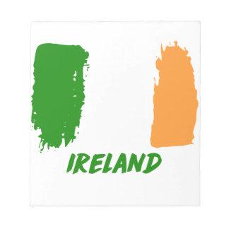 Ireland flag design notepad