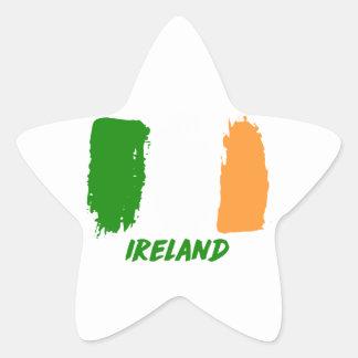Ireland flag design star sticker