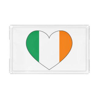 Ireland Flag Heart Acrylic Tray