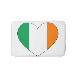 Ireland Flag Heart Bath Mats