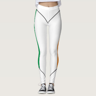 Ireland Flag Heart Leggings