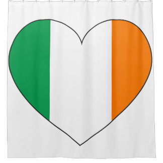 Ireland Flag Heart Shower Curtain