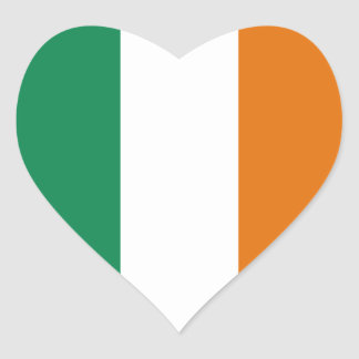 Ireland Flag Heart Sticker