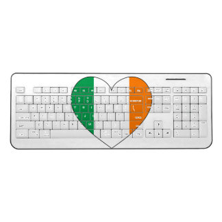 Ireland Flag Heart Wireless Keyboard