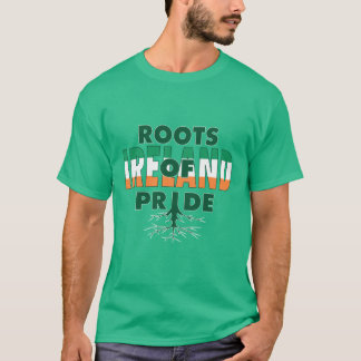 Ireland Flag Irish Pride Roots Of Pride Proud T-Shirt