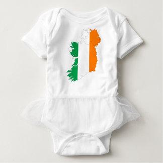 Ireland Flag Map Baby Bodysuit
