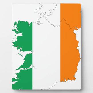 Ireland Flag Map Plaques