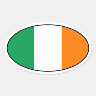 Ireland Flag Oval Sticker