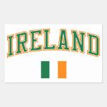 Ireland + Flag Rectangular Sticker