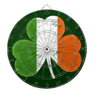 Ireland Flag Shamrock Dartboard