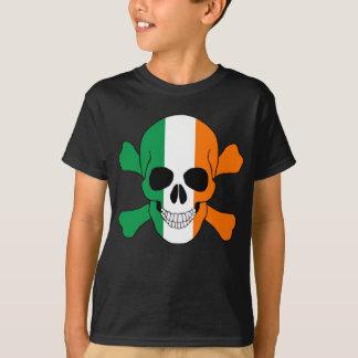 Ireland Flag Skull And Crossbones Shirt