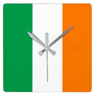 Ireland Flag Square Wall Clock