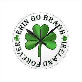Ireland Forever Round Clock