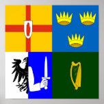 Ireland Four provinces Poster