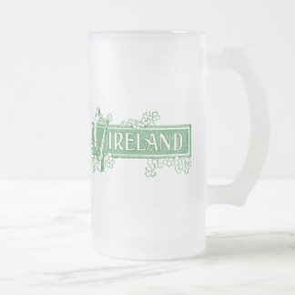 Ireland Frosted Glass Mug