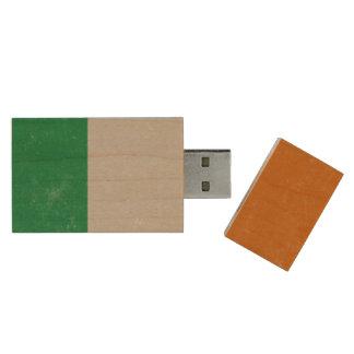 Ireland Grunge- Irish Tricolour Flag Wood USB 2.0 Flash Drive