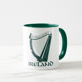 Ireland Harp Design, Irish Harp Mug
