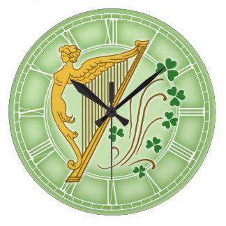 Ireland Harp Large Clock