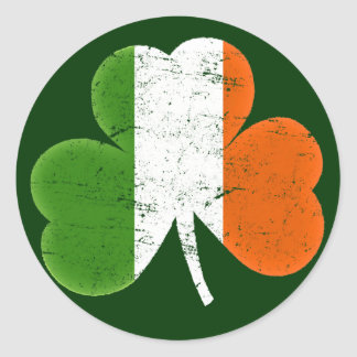 Ireland Irish Flag Classic Shamrock Classic Round Sticker