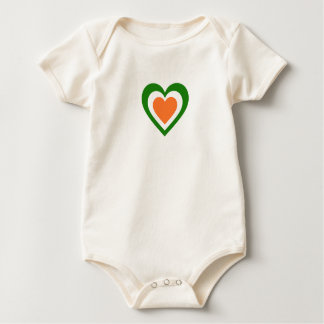 Ireland/Irish Flag-Inspired Hearts Baby Bodysuit