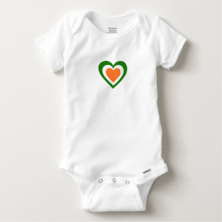 Ireland/Irish flag-inspired Hearts Baby Onesie