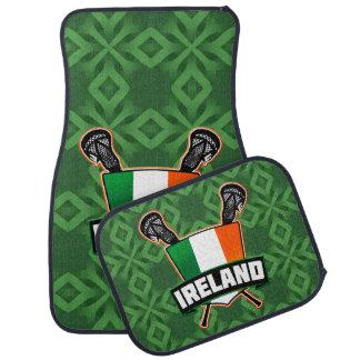 Ireland Irish Lacrosse Flag Logo Car Mat